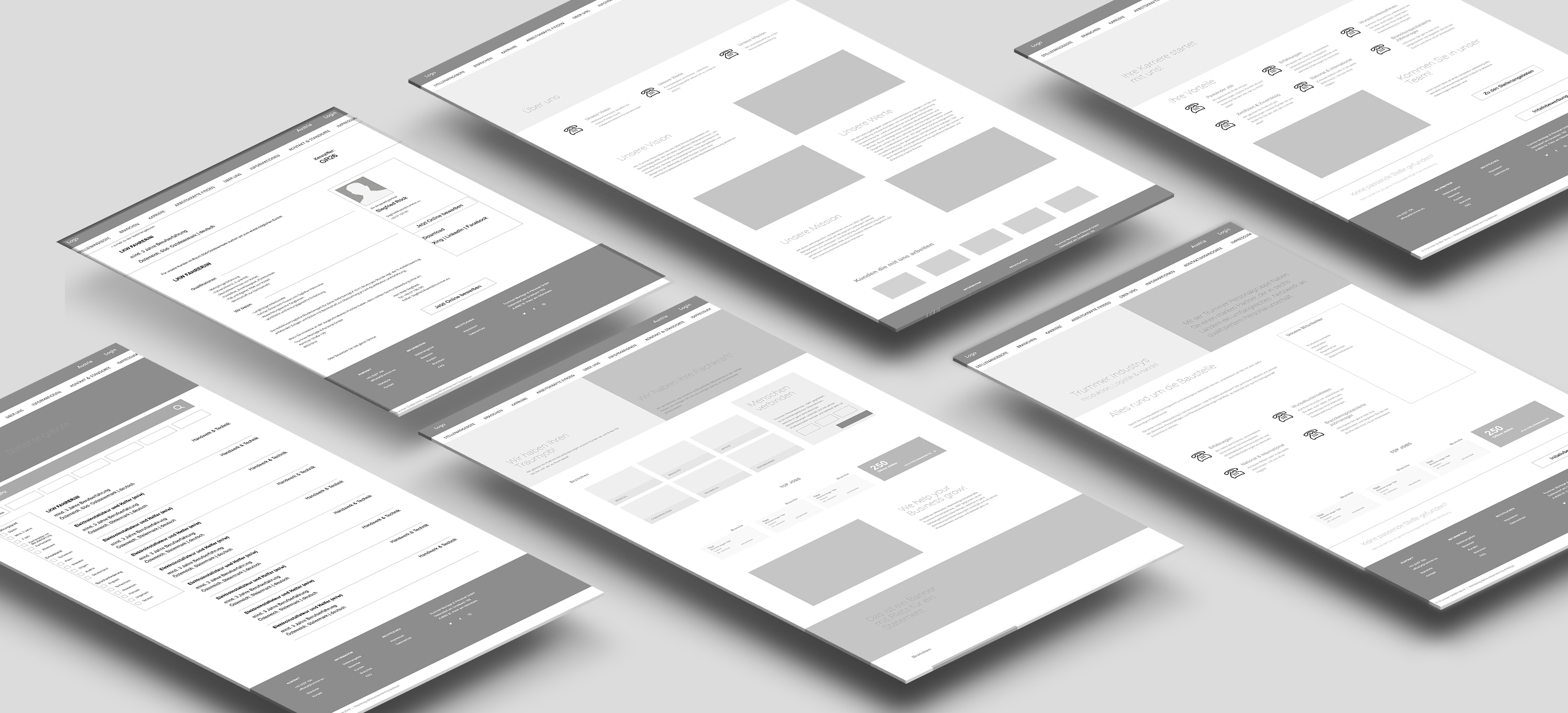 Trummer Website Wireframes