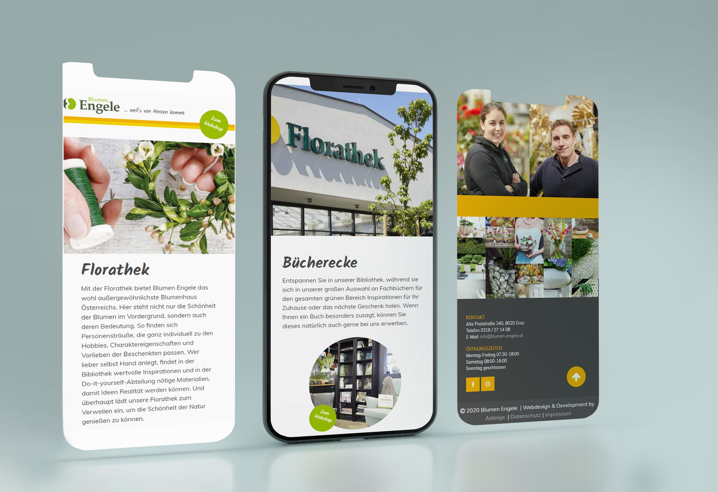 Blumen Engele Website Smartphone