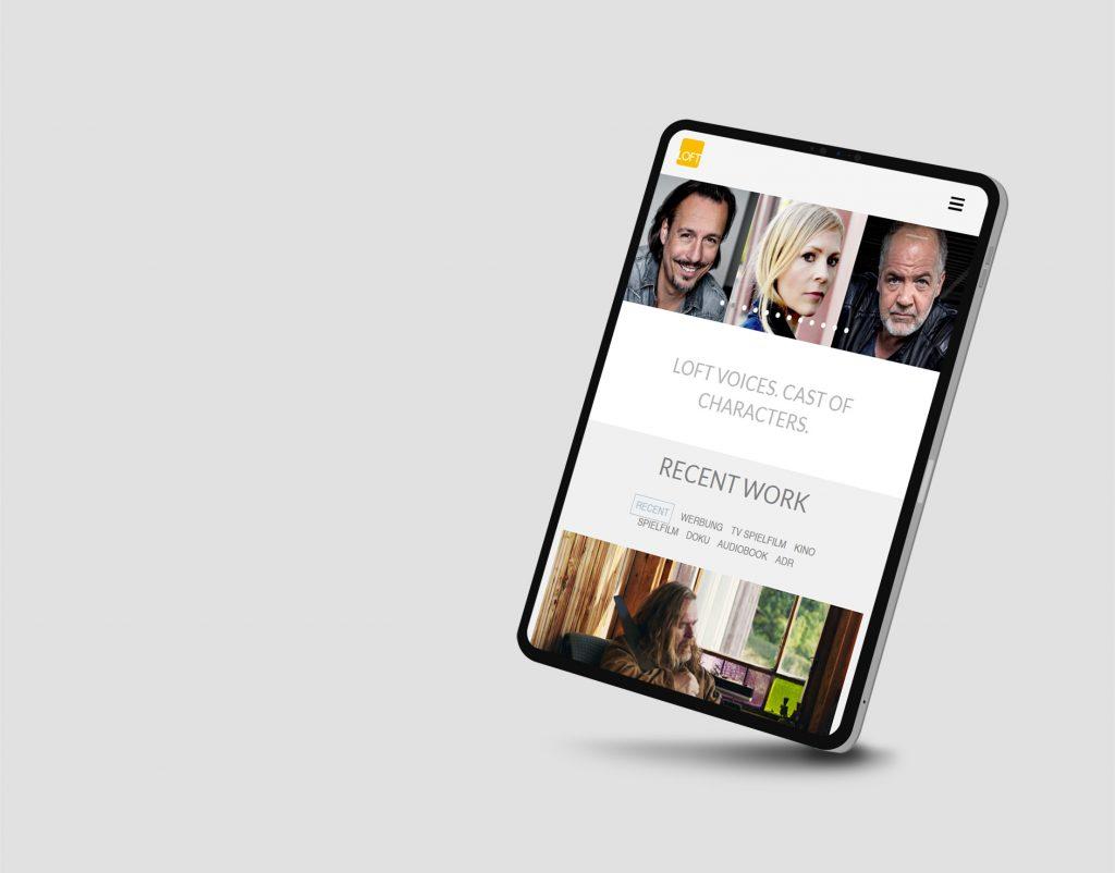 LOFT Website Tablet