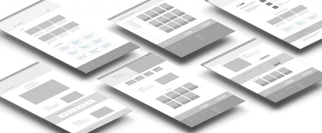 NETBEE Website Wireframes