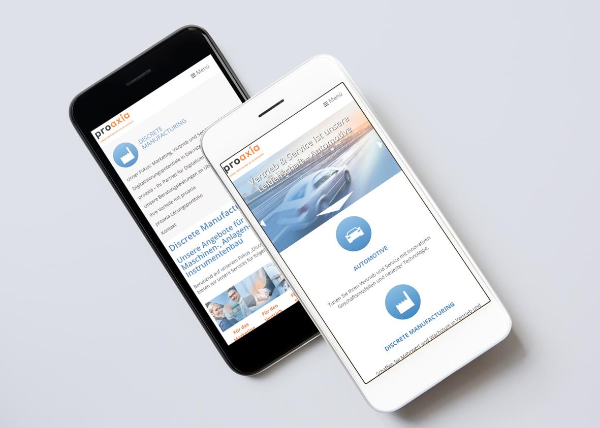 Proaxia Website Smartphone